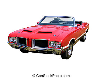 Classic Convertable Isolated - This is an early 1970s red...