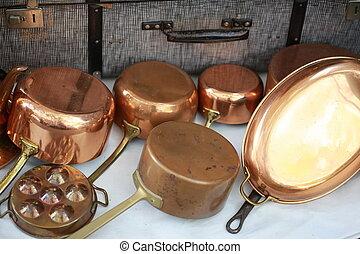 copper kitchenware set