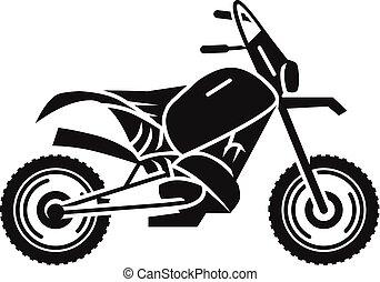 Classic cross bike icon, simple style