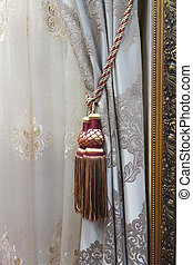 Classic curtain hanging on a window