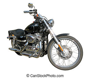 Classic Custom Motorcycle - A classic, traditional, custom...