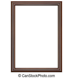 Classic dark brown wooden frame