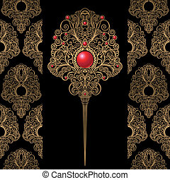 Classic Jewelry Decoration And Wallpaper Background, editable vector illustration