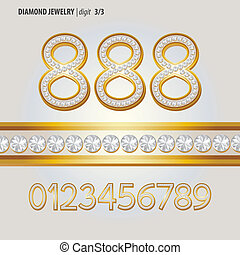 Classic Diamond Jewelry Digit Vector