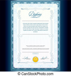 Classic Diploma Template - Diploma Design