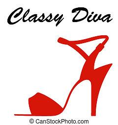 classic diva logo branding