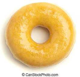 donut - classic donut isolated on a white background