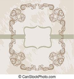 classic elegant frame card