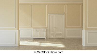 Classic empty interior