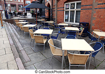 classic european street cafe