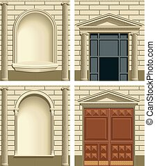Classic exterior facade elements