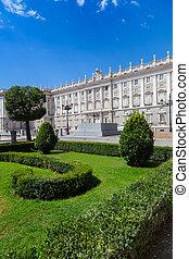 Madrid Royal Palace - Classic Facade of Madrid Royal Palace,...