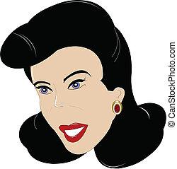 classic fifties lady
