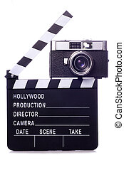 Classic film movie clapper board cutout