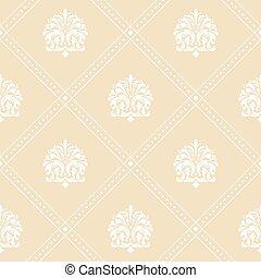 Classic floral wallpaper
