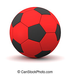 Classic Football in Red and Black