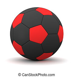 Classic Football in Red and Black - Inverse Colours