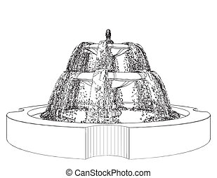 Classic Fountain - Fountain Vector