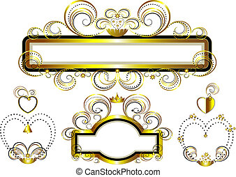 Frames decorated with gold stars