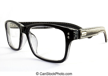 classic glasses on white background