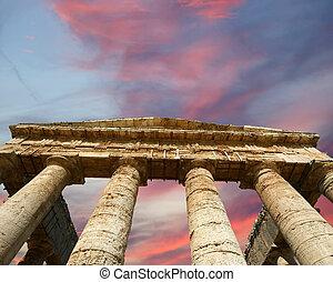 Classic Greek (Doric) Temple at Segesta in Sicily