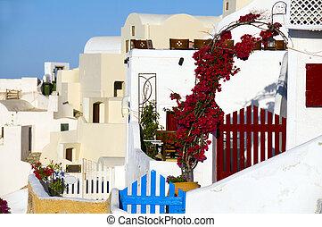 classic greek island architecture    santorini