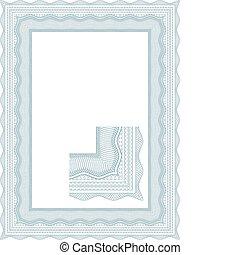 Classic guilloche border for diplom