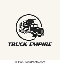classic heavy truck logo emblems and badges. Truck with ...