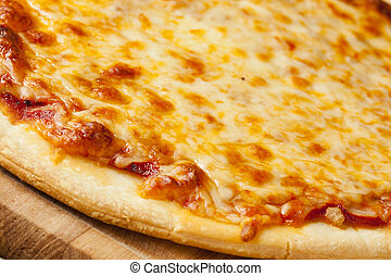 Classic Homemade Italian Cheese Pizza fresh out of the oven