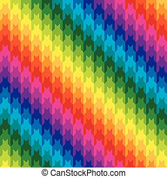 Classic Hounds Tooth in Rainbow Colors