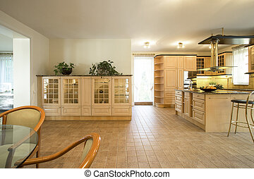 Classic interior in traditional style - Horizontal view of...
