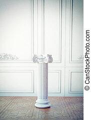 classic interior l with column pedestal