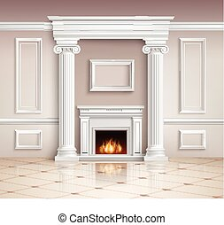 Classic Interior With Fireplace Design