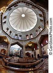 Classic Israel - Dome and Basilica of the Annunciation church in Nazareth