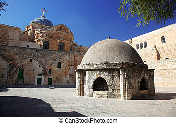 Classic Israel - Dome on the Church of the Holy Sepulchre in Jerusalem