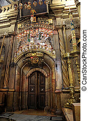 Classic Israel - Sepulchre of Jesus Christ in the church of the Holy Sepulchre in Jerusalem
