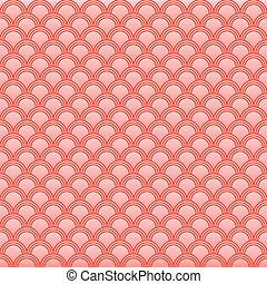 Classic japanese squama seamless pattern for textile industry, fabric design