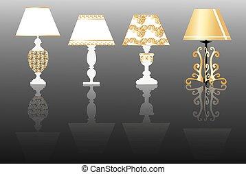 Classic lamp set