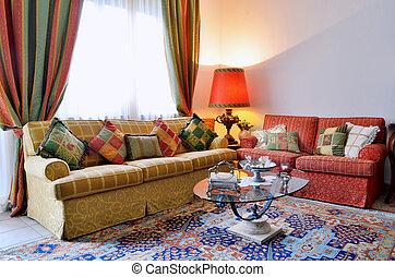 Classic living room - Elegant living room with classic...