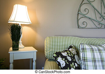 Classic Living Room with Lamps and Couches