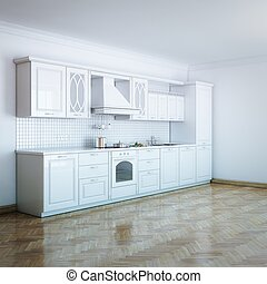 Classic Luxury White Kitchen With H