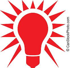 (classic, luz, bulb), bombilla