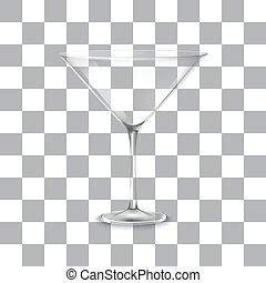 Classic martini glass,