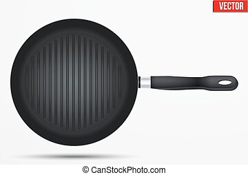 Classic Metal black grill pan