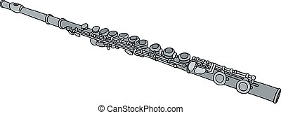 Hand drawing of a classic flute