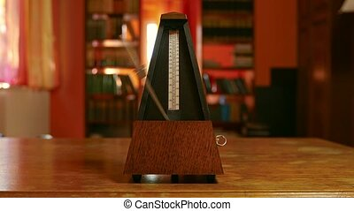 Classic Metronome Clicking - Classic metronome clicking in...