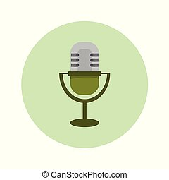 Classic Microphone Icon Vector Illustration Graphic