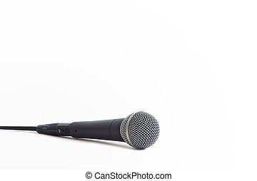 Classic Microphone - Classic dynamic microphone on a white...