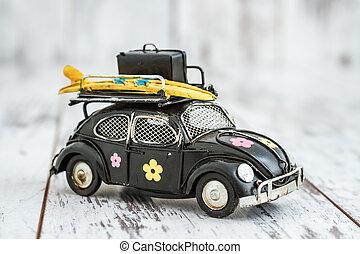 Classic Mini Black Model Car Money Box