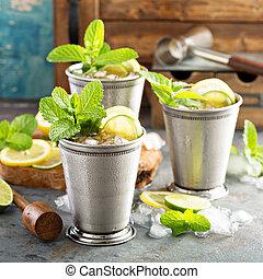 Classic mint julep cocktail